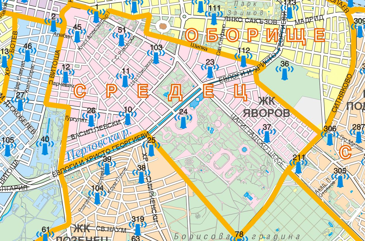 Thematic maps GIS Sofia