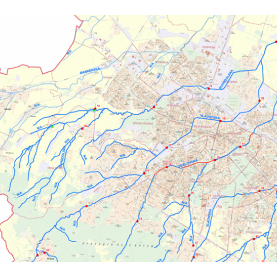 Cross profiles of rivers